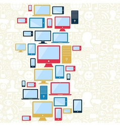 Computer mobile and tablet icons pattern vector image