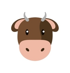 Cow livestock animal design vector
