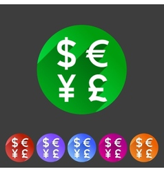 Currency exchange sign icon converter symbol money vector