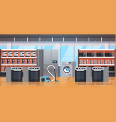 Different home appliances electric house equipment vector