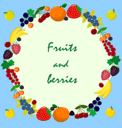 different kinds of fruits and vector image