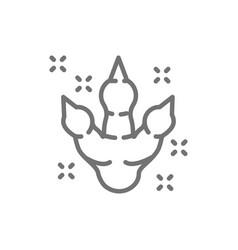 dinosaur footprint prehistoric time line icon vector image