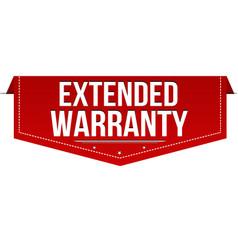 extended warranty banner design vector image