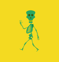Flat on background of skeleton halloween monster vector