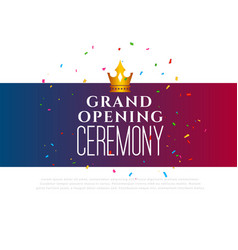 Grand opening ceremony celebration template vector