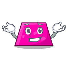 Grinning trapezoid character cartoon style vector