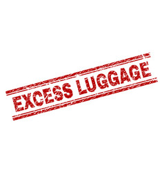 Grunge textured excess luggage stamp seal vector
