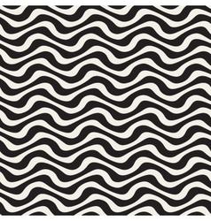 Hand Drawn Wavy Horizontal Lines Seamless vector