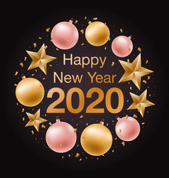 happy new year 2020 banner greeting background vector image