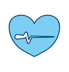 Heartbeat sign of cardiac rhythm frequency vector