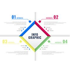 infographic square frame four elements on white vector image