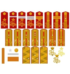 Insignia of the Russian Imperial Army vector image