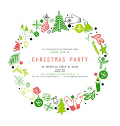 invitation merry christmas party vector image