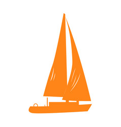 Isolated vessel silhouette vector