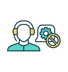 It customer service rgb color icon vector