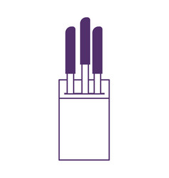 Knives cutlery cooking isolated icon design vector
