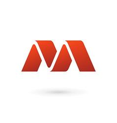 letter m logo icon design template elements vector image