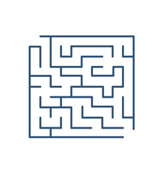 Maze or labyrinth isolated on white background vector