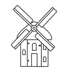 Mill icon outline style vector