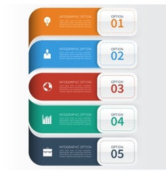 Modern business infographics options template vector
