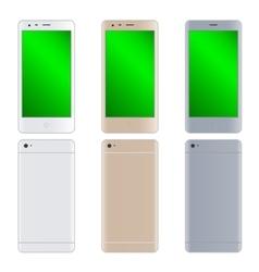Modern phones set vector image