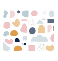 Modern trendy abstract shapes in pastel colors vector