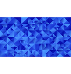Polygonal blue triangle mosaic webpage background vector