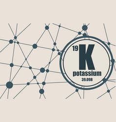 potassium chemical element vector image