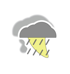 Rain cloud cloudburst downpour rain hurracian vector