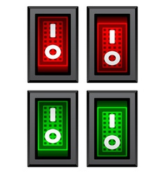 Rectangle toggle power switches vector