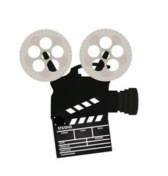 retro film camera vector image