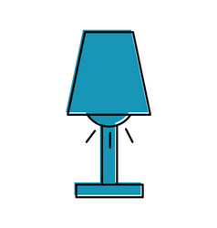Room lamp isolated icon vector