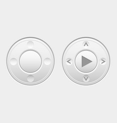 round navigation knob buttons vector image