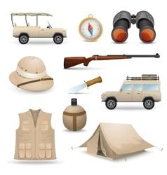Safari Icons For Hunting vector image