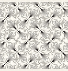 seamless vintage pattern overlapping arcs in vector image