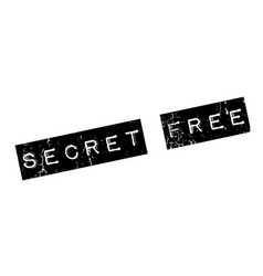 Secret free rubber stamp vector