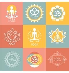 Set of Yoga and Meditation Symbols vector