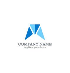 shape triangle company logo vector image
