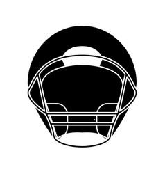 Silhouette helmet american football front view vector