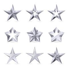 Silver stars vector