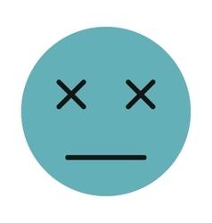 Sleeping smiley icon flat style vector image