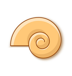 snail shell icon in flat style placed on white vector image