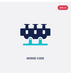 Two color morse code icon from communication vector
