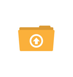 upload folder icon design template isolated vector image