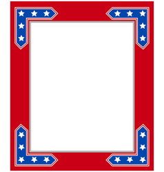 usa flag symbolism patriotic border frame vector image