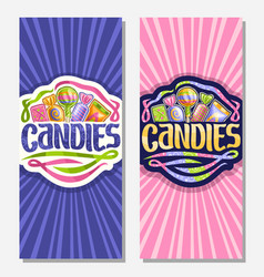 vertical banners for candies vector image