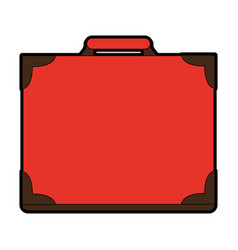 Vintage travel suitcase icon image vector
