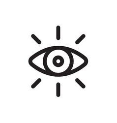 vision icon design vector image