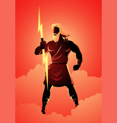zeus the father gods and men vector image