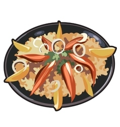 Appetizing dish for menu website and other needs vector image